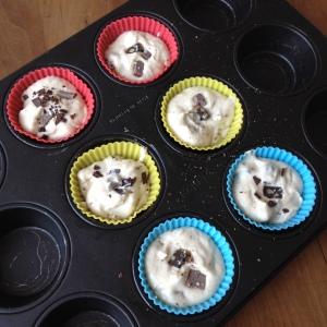 Pre oven protein muffins.