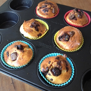 Post oven protein muffins.
